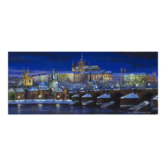The Prague Panorama Charles Bridge Prague Castle Poster