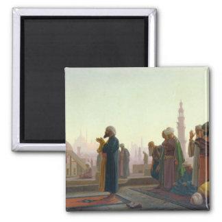 The Prayer, 1865 Square Magnet