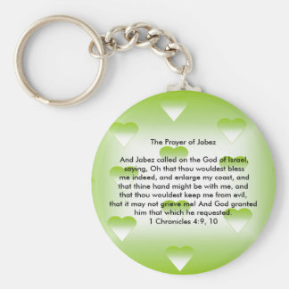 The Prayer of Jabez Basic Round Button Key Ring