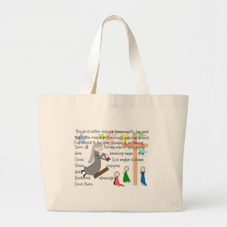 """The Praying Nun""  Story Art Gifts Canvas Bag"