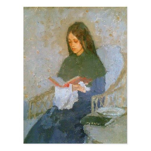 The Precious Book by Gwen John Post Card