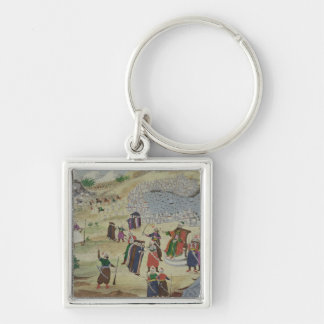 The predicted Fall of Constantinople, from the Pic Silver-Colored Square Key Ring