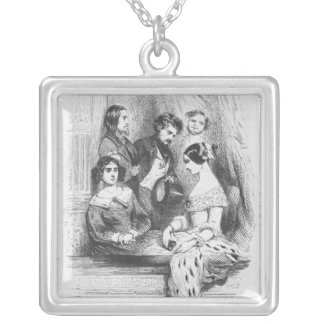 The Premiers Gentilhommes theatre box Silver Plated Necklace