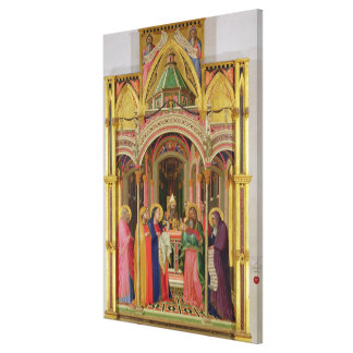 The Presentation in the Temple, 1342 (tempera on p Stretched Canvas Print