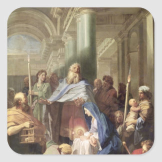 The Presentation in the Temple, 1692 Square Sticker