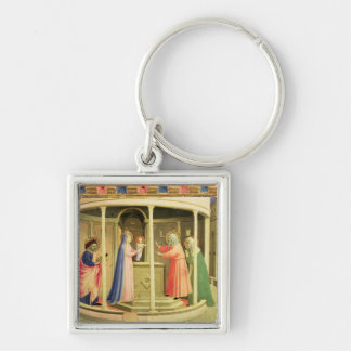 The Presentation in the Temple Silver-Colored Square Key Ring