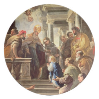 The Presentation of the Virgin at the Temple (oil Dinner Plates