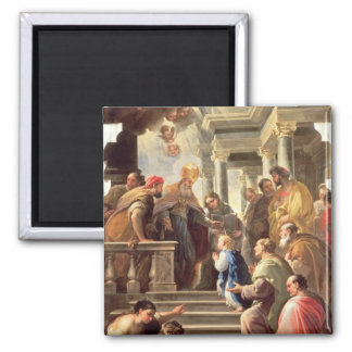 The Presentation of the Virgin at the Temple (oil Square Magnet