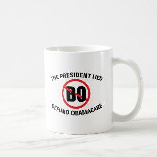 The President Lied Basic White Mug