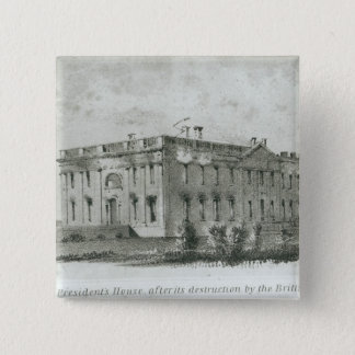 The President's House After its Destruction 15 Cm Square Badge