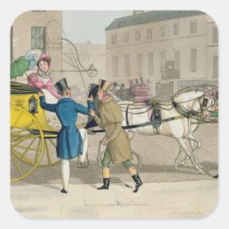 The Pressing Invitation, from 'Fashionable Bores, Square Sticker