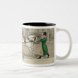 The Pressing Invitation, from 'Fashionable Bores, Two-Tone Coffee Mug