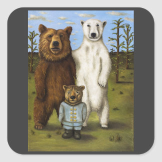 The Pretender 3 with Bears Square Sticker