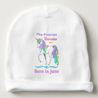 The Prettiest Unicorns Are Born In May Baby Beanie