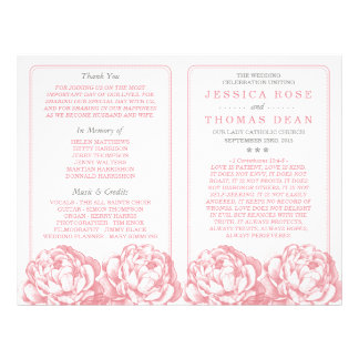 The Pretty Peony Floral Wedding Collection Flyer
