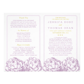 The Pretty Peony Floral Wedding Collection 21.5 Cm X 28 Cm Flyer