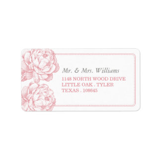 The Pretty Peony Floral Wedding Collection Label