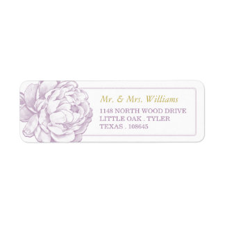 The Pretty Peony Floral Wedding Collection Return Address Label