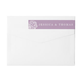 The Pretty Peony Floral Wedding Collection Wraparound Return Address Label