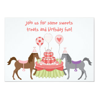 The Pretty Ponies Horse Birthday Invitation