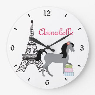 The Pretty Ponies Paris Horse Clock