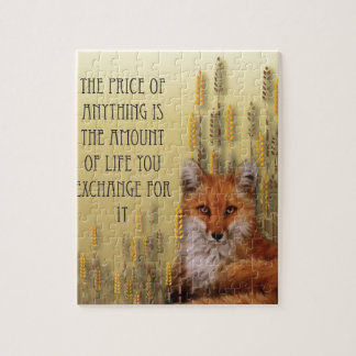 The Price Of Anything Is The Amount Of Life Yoy Ex Jigsaw Puzzle