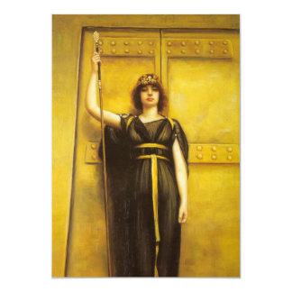 The Priestess Fine Art 13 Cm X 18 Cm Invitation Card