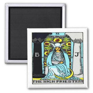 The Priestess Square Magnet