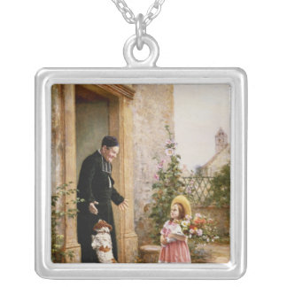 The Priest's Birthday Silver Plated Necklace