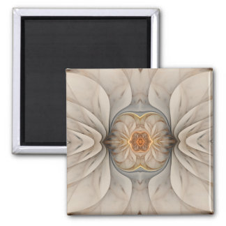 The Primal Om Abstract Floral Square Magnet