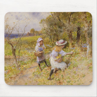 The Primrose Gatherers Mouse Mat