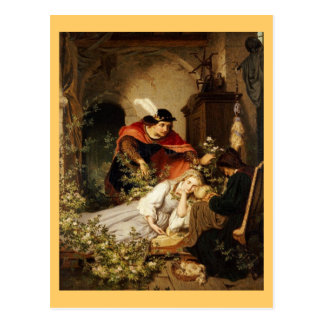 The Prince Leans Toward Sleeping Beauty Postcard