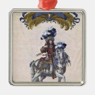 The Prince of Conde Silver-Colored Square Decoration