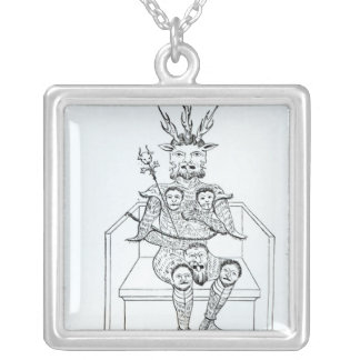 The Prince of Darkness Silver Plated Necklace