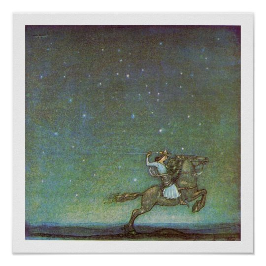 The Prince Rides in Moonlight by John Bauer