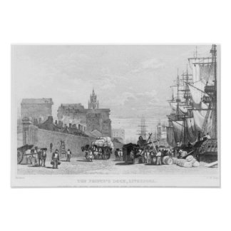 The Prince's Dock, Liverpool Poster