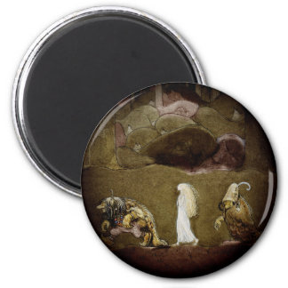 The Princess and the Trolls 6 Cm Round Magnet