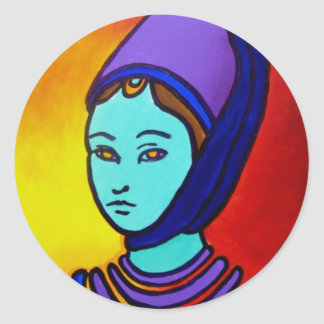 The Princess by Piliero Classic Round Sticker