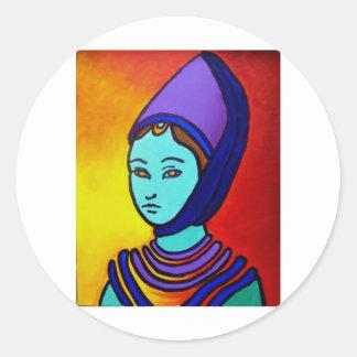 The Princess by Piliero Round Sticker