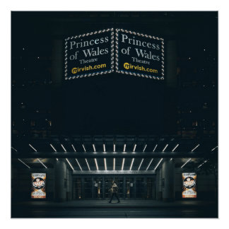 The Princess of Wales Theatre Marquee Poster