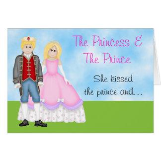 The Princess, Prince and Unicorn Birthday Card