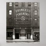 The Princess Theatre, 1910. Vintage Photo Poster