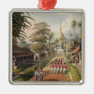 The Principal Approach to the Great Dagon Pagoda a Christmas Ornament