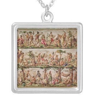 The Principal Peoples of the Americas, c.1798-99 Silver Plated Necklace