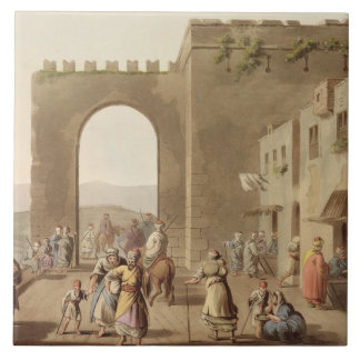 The Principal Street in Bethlehem, from 'Views of Large Square Tile