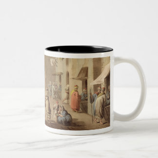 The Principal Street in Bethlehem, from 'Views of Two-Tone Coffee Mug