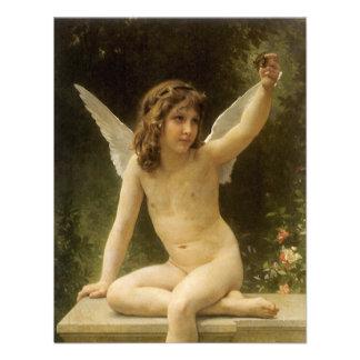 The Prisoner, Bouguereau, Vintage Victorian Angel Announcement