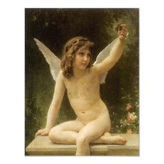 The Prisoner, Bouguereau, Vintage Victorian Angel 4.25x5.5 Paper Invitation Card