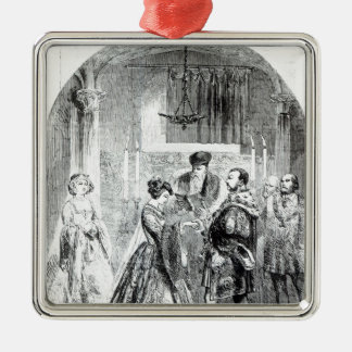 The Private Marriage of Anne Boleyn Silver-Colored Square Decoration
