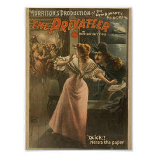 The Privateer, 'Quick, Here's the Paper' Vintage T Posters